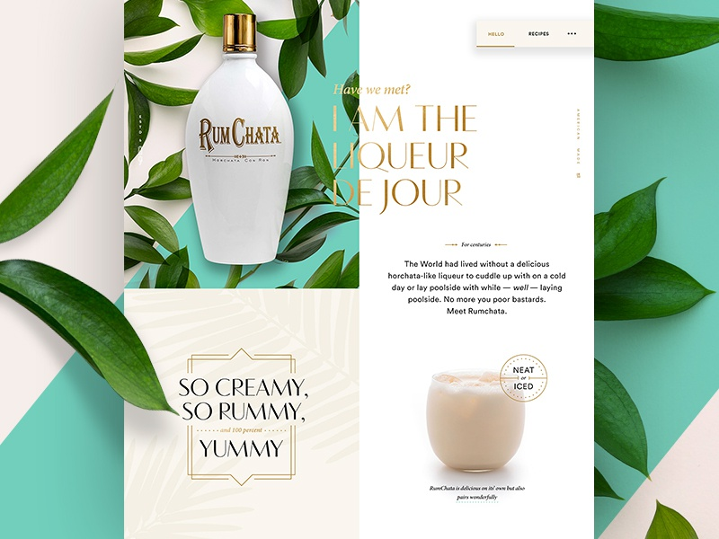 Dribbble rumchata early concept 01