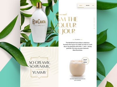 RumChata Early Concept gold pattern botanical cocktail deco pastel floral alcohol liquor