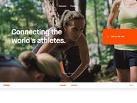 Strava homepage