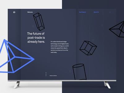 Digital Asset—Direction 2 geometric future financial stocks fintech ledgers blockchain technical trading grid