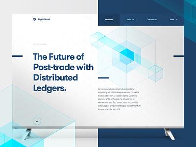 Digital Asset—Direction 3 geometric future financial stocks fintech ledgers blockchain technical trading grid