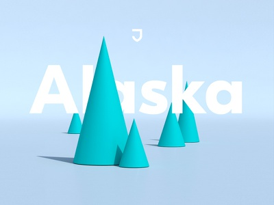 Now In Alaska cone models scene headline trees c4d 3d alaska