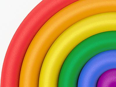 Pride 3d celebrate material rainbow render c4d pride