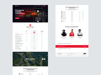DriveExpert responsive flat desktop website figma minimal design web ux ui