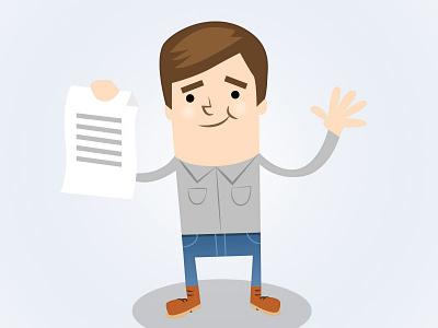 Happy Dude cartoon vector illustration