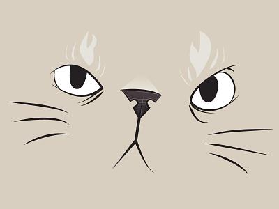 Kitty cartoon vector illustration