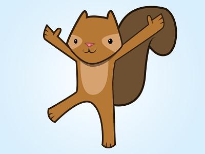 Squirrel! illustration cartoon vector