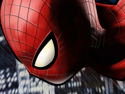 The Wall Crawler vector painting digital painting