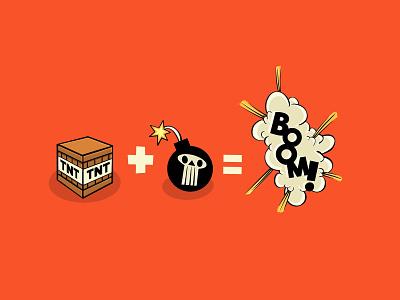 TNT + Bomb =BOOM! retro digital illustration digital art digital digital painting cartoon illustration