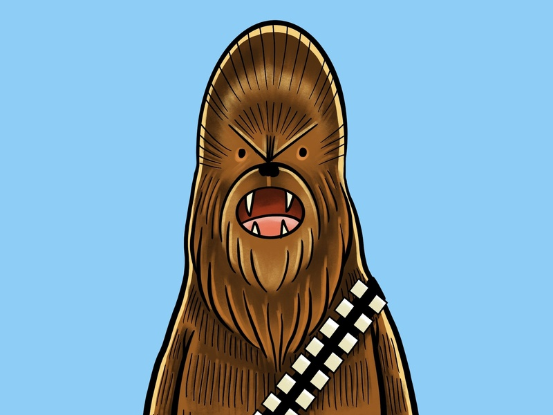Chewie procreate app procreate drawing painting illustrator digital illustration digital art digital digital painting cartoon illustration