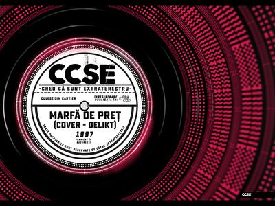 Vinyl ccse typography design graphic illustration vinyl