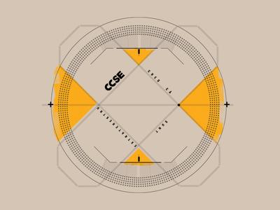 CD typography design geometry logo cd