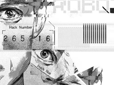 Mr Robot Illustration typography design graphic illustration robot mr