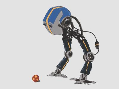 JAKOB - TALES FROM THE LOOP sad science fiction soccer sketch character design jakob the loop robot design apple pencil procreate sifi illustration