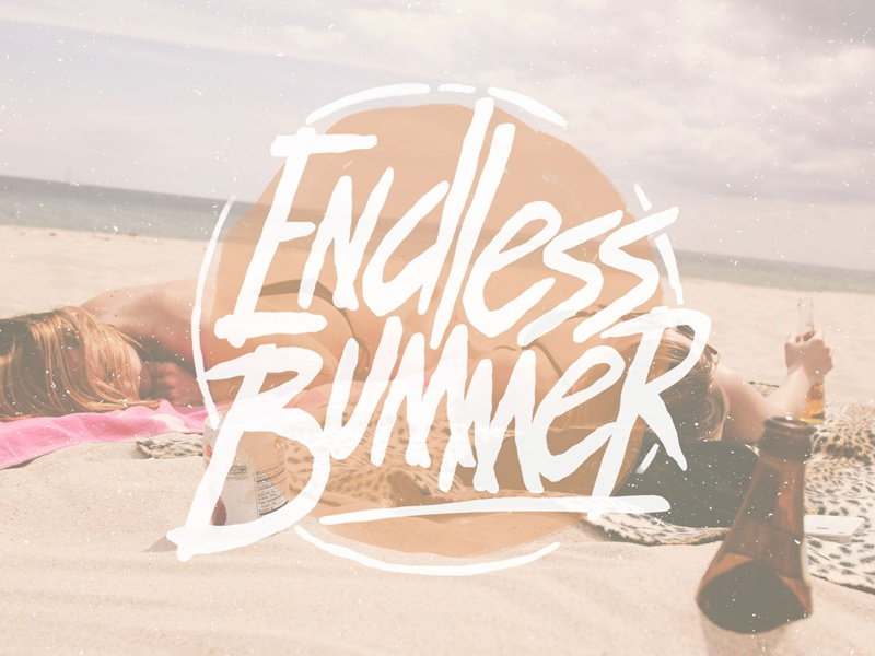 Endless Bummer free free typeface free font summer 1980s 80s skate board type hand drawn hand drawn font