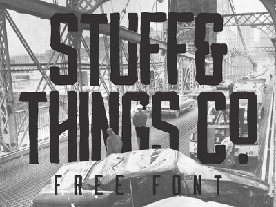 STUFF & THINGS Co. - Hand Drawn Typeface free typeface free font bold hand drawn free typeface font