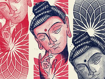 BUDDHA xerox halftone illustration nirvana zin buddha
