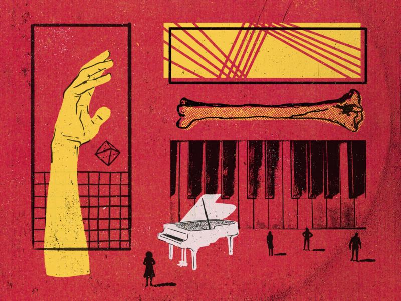 WTF dance music design texture digital illustration