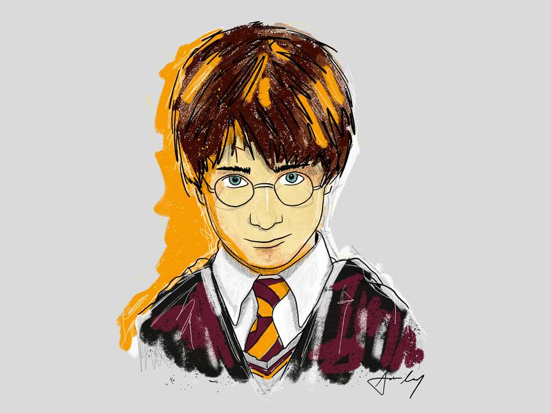HBD, HP! novel movie fantasy drawing digital painting character procreate design illustration harry potter