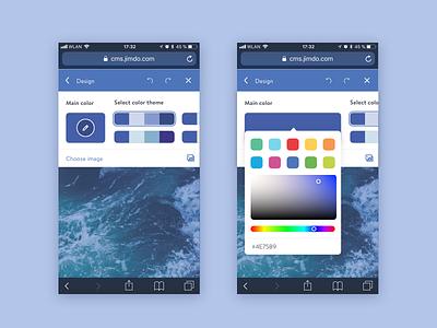 Custom color themes mobile sets themes picker color ui ai colors