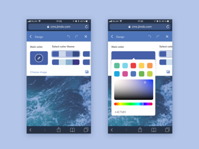 Custom color themes