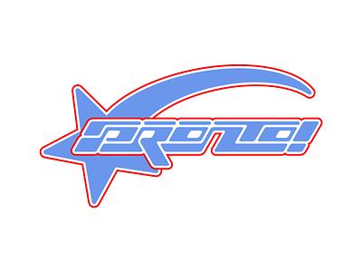 PRONTO logodesign pronto star identity clothing brand typedesign y2kera y2k icon vector typography type logos logo design branding