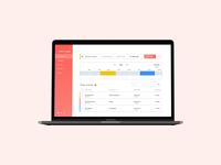Time Tracker App design