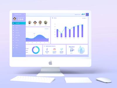 Dashbord Template ux ui design purple template dashboard