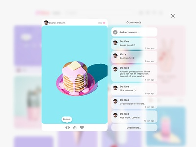 Pictures - home Page pop-up pop-up pictures ui ux design