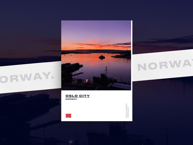 Southern Norway oslo posterdesign norway layout graphicdesigner graphicdesign designer poster freelance minimal design