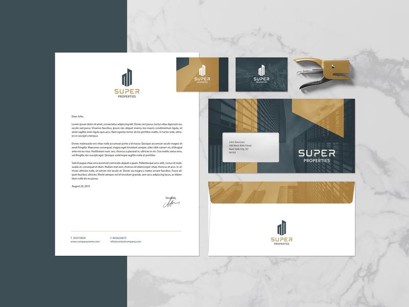 SUPER PROPERTIES Brand Design branddesign freelancedesigner brandidentity layout colors logodesign graphicdesigner logo branding graphicdesign designer freelance minimal design