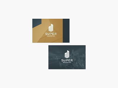 SUPER PROPERTIES Brand Design business card design businesscards freelancedesigner brandidentity logodesign graphicdesigner logo branding graphicdesign designer freelance minimal design
