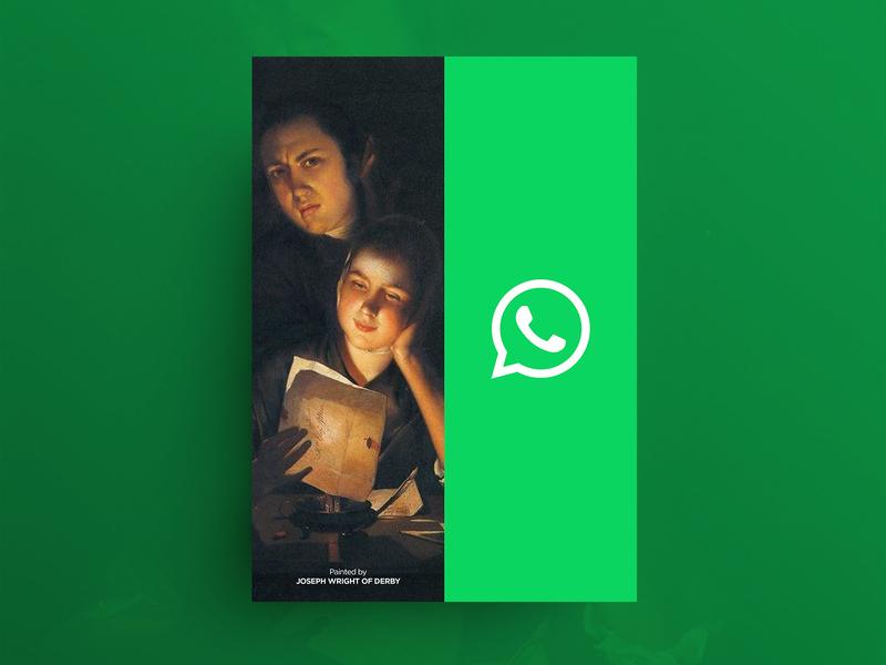 OLD HABITS IN THE DIGITAL AGE advertising whatsapp graphicdesigner graphicdesign poster designer freelance minimal design