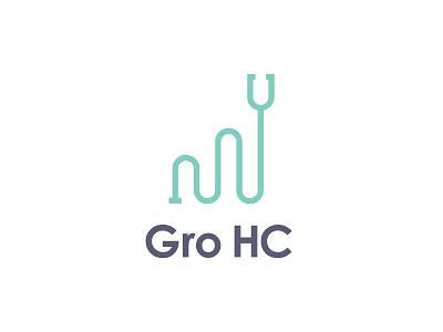 GroHC Logo marketing growth marketing logo branding healthcare