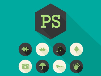 Long Shadows Photoshop Actions icons long shadows photoshop actions