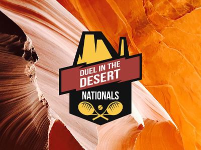 Duel in the Desert Nationals orange desert branding tournament logo sports logo tennis