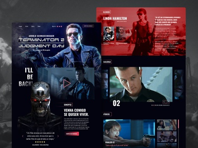 Terminator 2: Judgment Day – Interface Design movie uichallenge uiux design uidesign user interface ui schwarzenegger arnold schwarzenegger terminator
