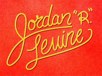 "The Name is ""R."" Jordan R."