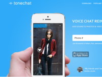 Introducing Tonechat (landing page)