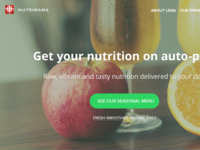Smoothie subscription landing page