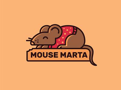 Mouse Marta  dot polka cozy pullover mouse logo