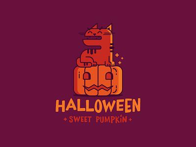 Halloween Sweet Pumpkin  pumpkin halloween redcat illustration