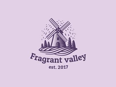 Fragrant Valley   fragrant valley provence field lavender engraving mill logo