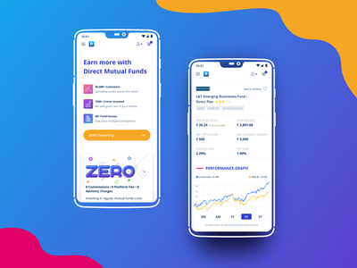 Landing Page financial technology financial services financial advisor finance app bold font bold color bold mobile web creative uidesign gradient color new trend mutual funds vibrant colors colors landing page design landing page ui mobile finance financial fintech