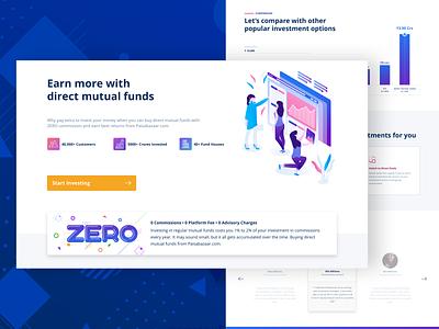 Rebound MF Landing Page vivid financial services fintech creative landing page design colors ux ui landing page ui landingpage mutual funds