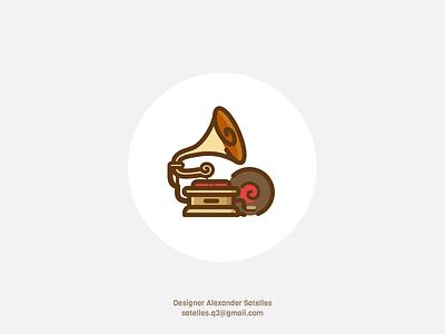Nostalgia boombox icon ;D icon curl vintage creative gramaphone