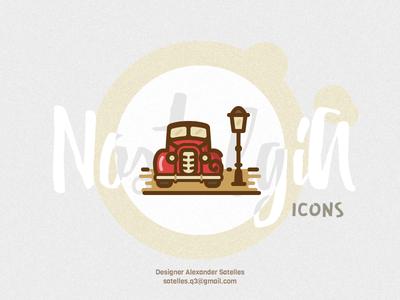 Nostalgia Oldsmobile icon oldsmobile car creative vintage 2d icon