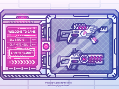 Welcome to Dribbble, Rookies! dribbble gamification armory weapons sci-fi 2d illustration