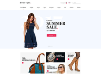 Boutique Clothing Website Design