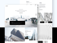Architektur Website Design